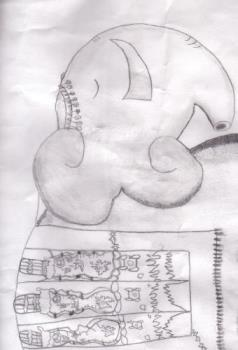 My son drawing - He was 7 years old when he drew this. He won 1st prize in a county fair