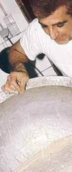 A man cooking halva - Halva a sweet they use eat the more arabic and east Mediterranean coutries