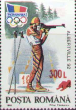 "Albertville 1992 Winter Olimpics - In 2001, Romfilatelia reprinted the 1992 ""Winter Olimpics of Altberville"" issue."