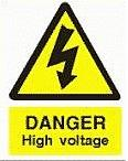Danger-High Voltage - This is a symbol to inform people and avoid death by electric shock.`