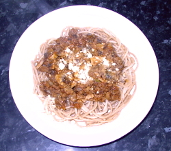 Spagetti Bolognaise - Vegan spagetti - one of my favourite meals.