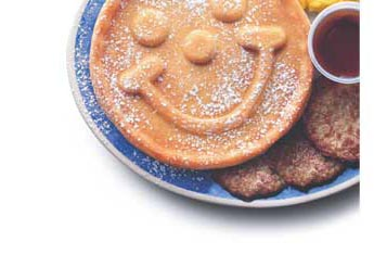 Breakfast Smiles - Hotcakes and Sausage puts a smile on my face!