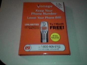 Vonage - Here is the Vonage software that you may receive in the mail. It is another phone service company.