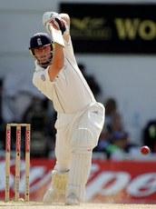 cricket - A brilliant drive by the batsman