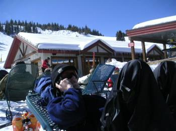 on the slopes with a cell phone - Put it down!! We can all live a day wthout our cell phones