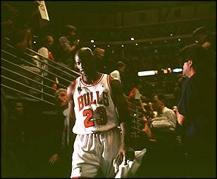 MJ's in NBA Finals 1998 Game 5 - Following Game 5 of the 1998 Finals,Michael would walk off the United Center floor for what proved to be the last time.