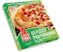 frozen pizza - frozen pizza in abox that can be bought in the supermarket / grocery store
