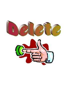 Delete Button - Finger pushing button.
