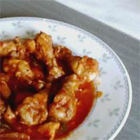 Korean Chicken Recipe - This was one of my favorite dishes growing up...mom would make it at least once a week. Sometimes she would add potato cubes and fresh ginger, but this is the way we preferred it. I'm not sure what the proper name for it is, sorry! If boneless chicken is used, you can skip the first step, that is only done to discard extra fat from the skin.