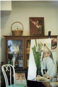 My friends art studio - This picture my friend had taken of her recent art studio.