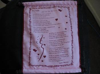 One of the first poems I wrote for my hubby..on a  - One of the first poems I wrote for my hubby..on a satin scroll
