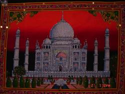 Art work depicting Taj Mahal - Photographed of a personal collection of Art works at Msyore, India