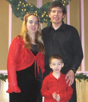 this is us - me, my son, and my fiance