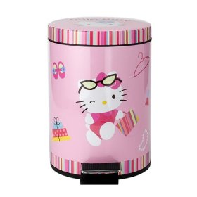 Hello Kitty WasteBasket - BrokenTia's question about what to get for neice's graduation, theme is Hello Kitty.