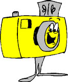 yellow camera with legs, happy smiling - yellow camera with legs happy and smiling