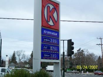 Gas Prices at local station - This was from last weekend but gas prices for regular unlead for a gallon are at $2.75 or higher, I have seen at some station for unleaded at $3.02 this week.