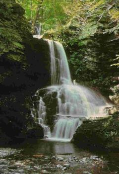 Waterfall - Here is a picture of a waterfall in Pennsylvania. It is so beautiful and there are many others in that area just like it.
