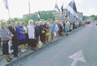 Baltic Chain - Baltic Chain was the largest pro-independence demonstration in Baltic States.