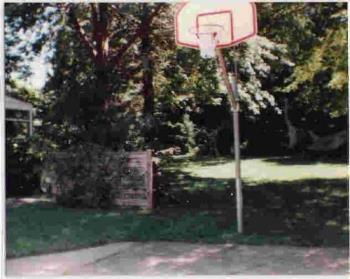 Basketball - This is the basketball net at my parents house that i used a lot when I was younger.