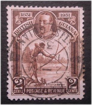 British Guiana - US catalog #206 British Guiana....issued in 1933 with a nice light bullseye cancel.