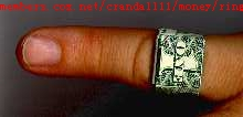 one dollar ring - one us dollar note can make many fun not more a money only