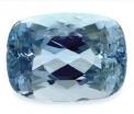 Aquamarine - Aquamarine cushion cut gemstone