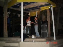 Kareoke Myrtle Beach - Heres me and my little cousin TRASHED, We are singing kareoke in Myrtle Beach! Im the one in the white!