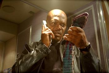 Samual L. Jackson - Samual L. Jackson in Snakes on a Plane.