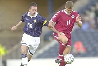 Paul Lambert (#10) in action for Scotland for whom - Paul Lambert (#10) in action for Scotland for whom he was captain