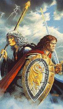 Raistlin and Caramon Majere - Raistlin and Caramon Majere of the Dragonlance LEGENDS series