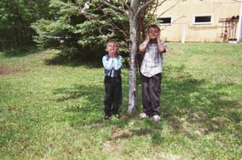 My Grandsons - Hunter 5 Tyler 7