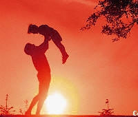 father and son - father and son at the sunset
