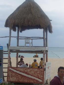 mexico beach - A lifeguard stand on the beach in 