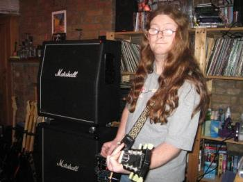 My long hair rock star guy - This is my guy, with his lovely long hair