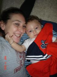 Me n my lil man - He loves me too, its so sweet when he holds me! It melts my heart!