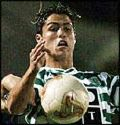 Cristiano Ronaldo - photo of Cristiano Ronaldo when he played for Sporting Clube de Portugal before being transferred to Manchester United