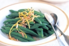 Beans with almonds  - beans with almonds and greengrass