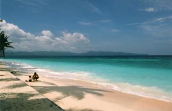 boracay beach - is picture is captured at the white sand beach resort in boracay.