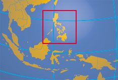 Philippines - Map showing the Philippines and her neighbors.