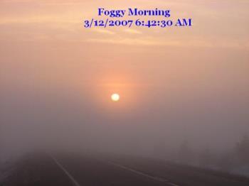 Foggy Sunrise - Near Cloquet MN USA