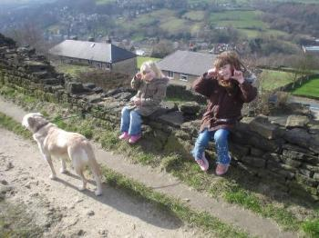 The kids, dog and I just spending time together  - When i get down I will often go out into the countryside around my home with the kids and enjoy just being there