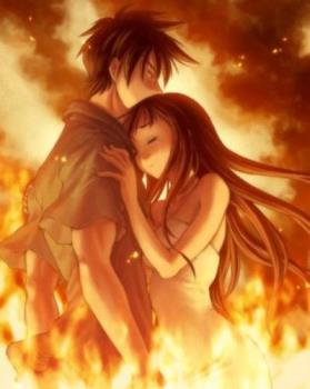 Passion - Standing in the flames to save the one you love.