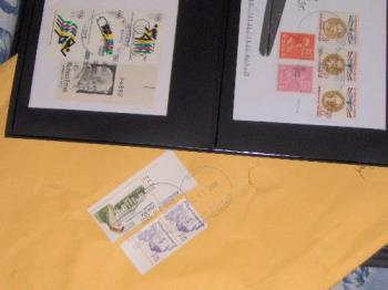 Postage (covers) - Some of the postage Tom has used to send me stuff.