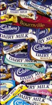 Cadburys chocolate bars. - various Cadbury's bars.