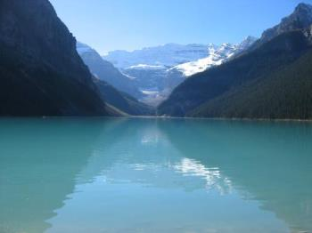 Lake Louise, Banff National Park - This is Lake Louise in Banff National Park, Alberta. The glacier high above is Victoria Glacier. The most beautiful place on Earth.