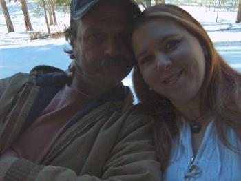 Me and my honey - Me and hubby in Jacob lake!