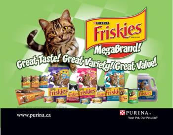 Friskies Purina cat food - This is the food my cats prefer. I feed them the dry food and sometimes canned meat.