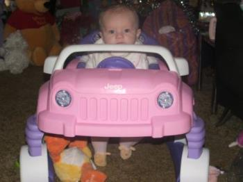 Jeep - My daughter in her Jeep!