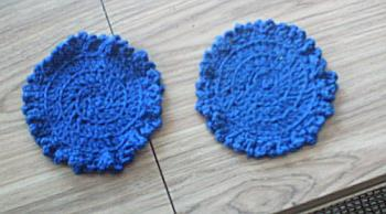Coasters that I used to crochet all the time. - Here is the picture of the coasters I was talking about.