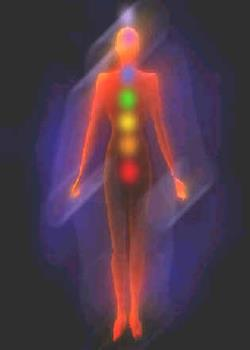 Meditation and Chakra Balancing - I love how this image is soft but shows all the main chakra's points in the body, and the glow of the aura around the outside.
